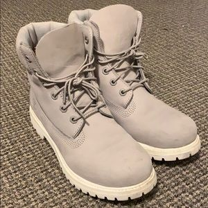 Grey Timberland Boots size 9